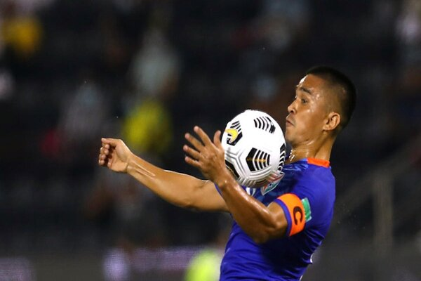 Chhetri equals Pele with his 77th goal as India defeats Nepal in SAFF!