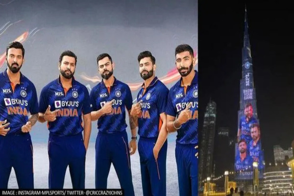 The T20 World Cup jersey of Team India got displayed on the Burj Khalifa!