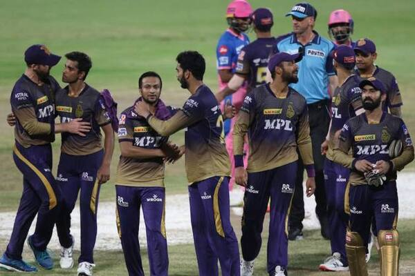 IPL 2021: KKR thrashes RR, qualifies for the playoffs!